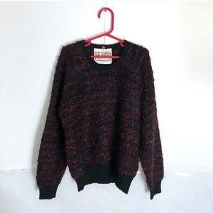St John Black and Pink Wool Sweater Vintage